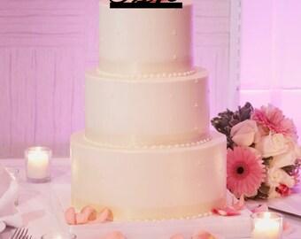 Mr & Mrs Wedding Cake Topper Wedding Cake Topper