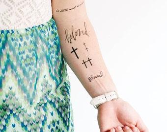 Christian Set of Temporary Tattoos - SmashTat