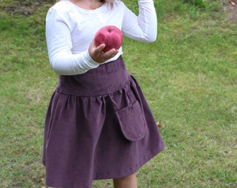Natural cord skirt with hanging pocket. Many colors. 68/9 months-140/9 baby toddler girl