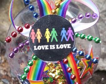 LGBT Christmas Ornament - Love is Love