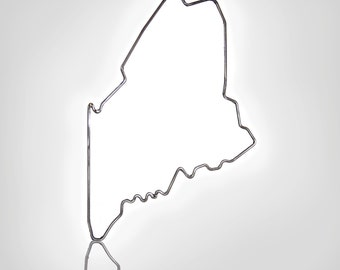 Metal Maine Outline, Maine State Outline, Metal Wall Art, Metal Sculpture, Maine Sculpture, Metal Decoration, Maine Wall Art, Weld Maine Art