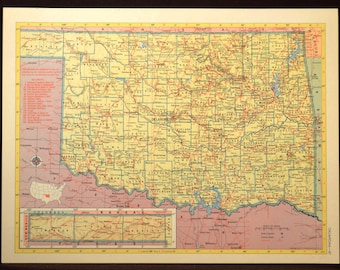 Norman oklahoma map Etsy