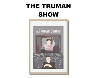 The truman Show Movie Print - Poster Peter Weir A3