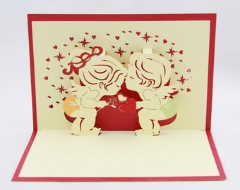 Love and valentine pop up 3d card-only wholesale