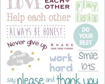 Personalised house rules wall art print