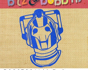 Doctor Who CYBERMAN - Digital Embroidery Design