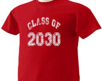 Class Of 2030 T-Shirt Graduation Gift