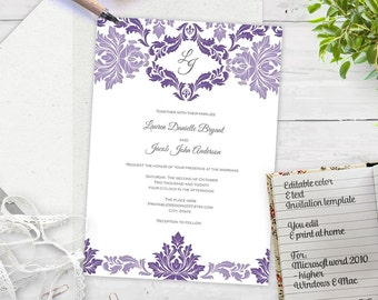 il_340x270.986308257_12d7 purple wedding invitation template etsy,Lavender Wedding Invitation Templates