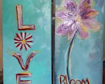 Love Blooms Set of 2 12 X 24