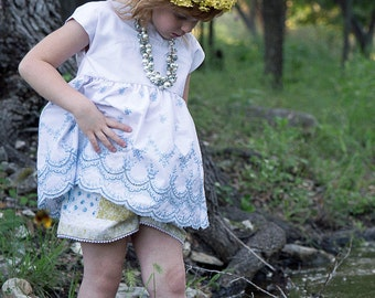 Spirit of a Fairy Embroidered Babydoll Tunic - size 5/6