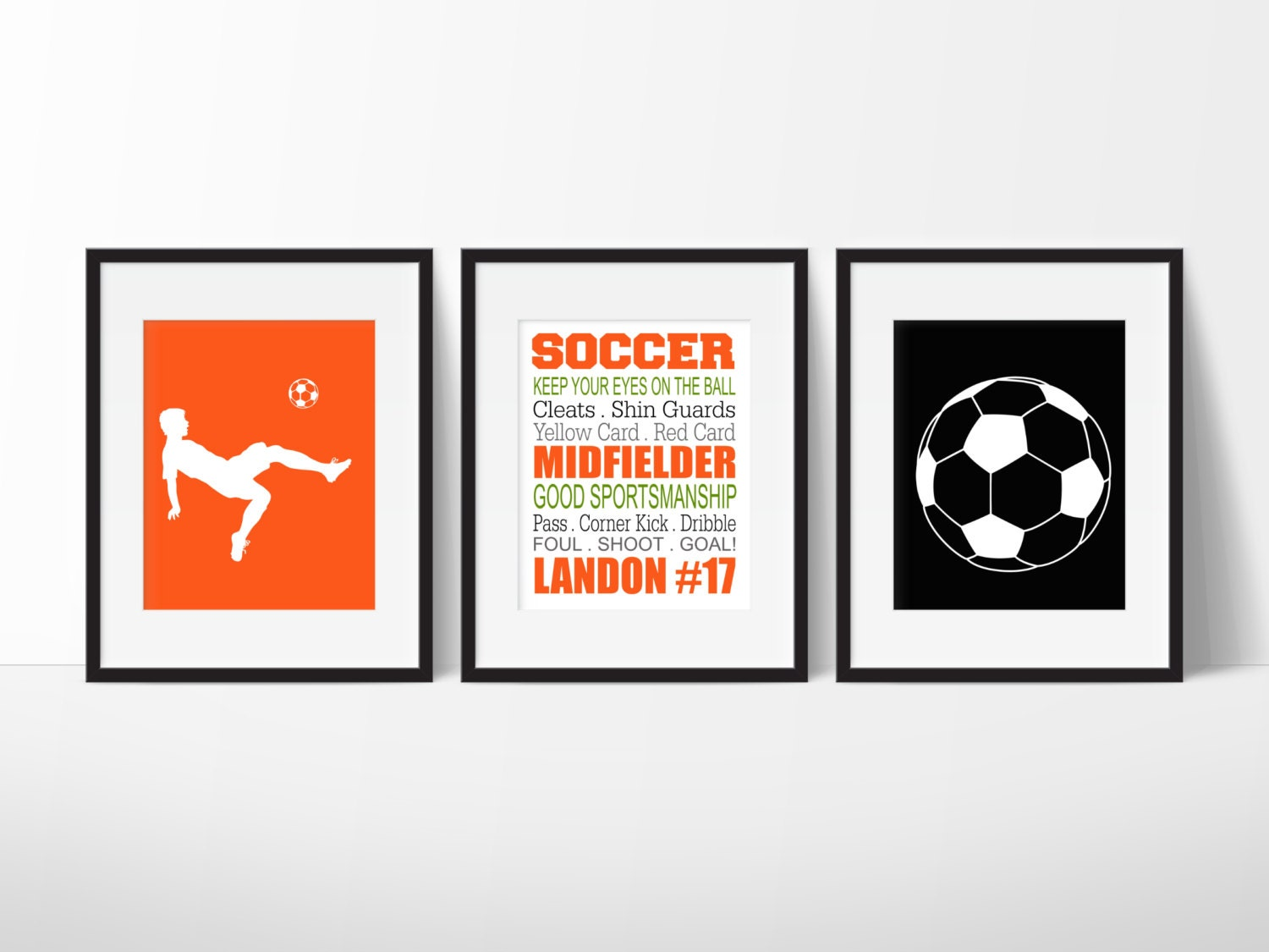 Soccer Wall Art Soccer Decor Boys Soccer Personalized
