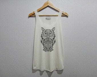 Beautiful OwlTank Top Women Size S M L