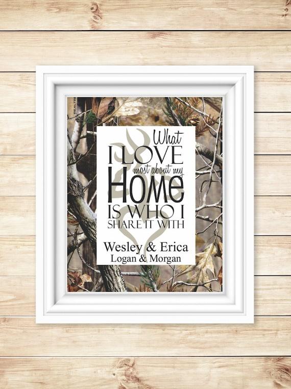 Camo Housewarming Camo Home Decor Camo By Bluffviewdesign