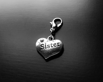 Sister Dangle Charm for Floating Lockets-Gift Ideas for Women