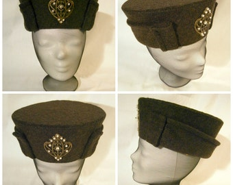 Renaissance Cap, Henry VII Hat, Cap with Brim, Renaissance Hat, Tudor Hat, Ren Faire, LARP hat's