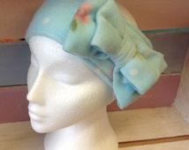 Vintage inspired cosy fleece head warmer / ear warmer, headband, ski headband, head-wrap,