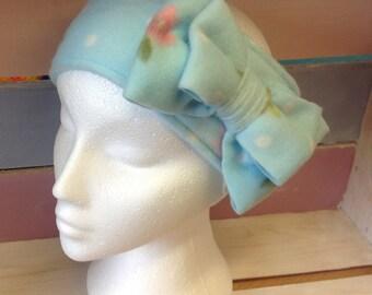Vintage inspired cosy fleece head warmer / ear warmer, headband, ski headband, head-wrap, with matching fingerless gloves.
