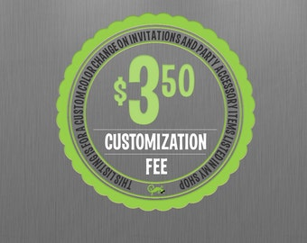 Customization Fee for Instant Downloads - Change the Background Color