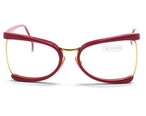 Missoni Vintage Oversized Women's Sunglasses | Missoni Spectacles Glasses Frame|  Red Missoni Designer Vintage Frame | Made in Italy RARE!