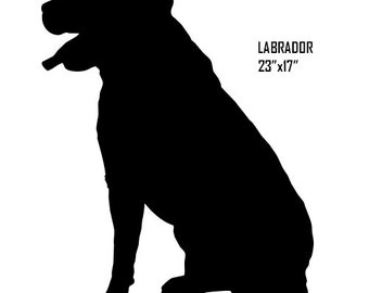 Laser Cut Out Labrador Retriever Dog Sign 17x23 RG8047B