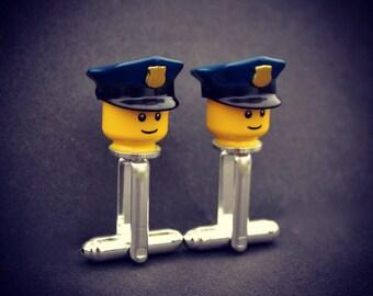 LEGO ®  Police Minifigure Cufflinks