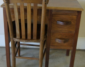 Vintage Children's School Desk & Chair  ( Local Pickup Only )