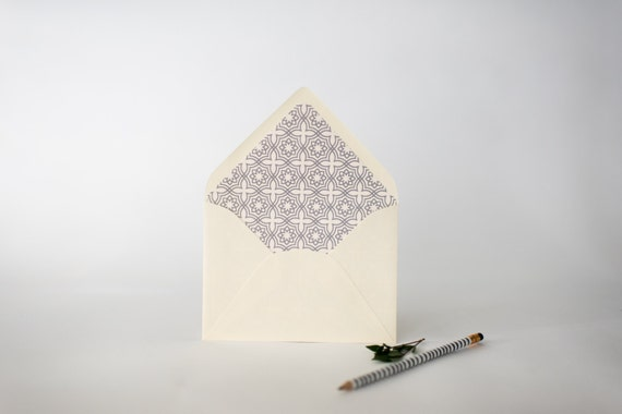 moroccan lined envelopes (20 color options) - sets of 10