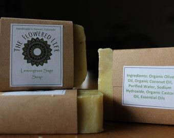 Organic Lemongrass Sage Soap