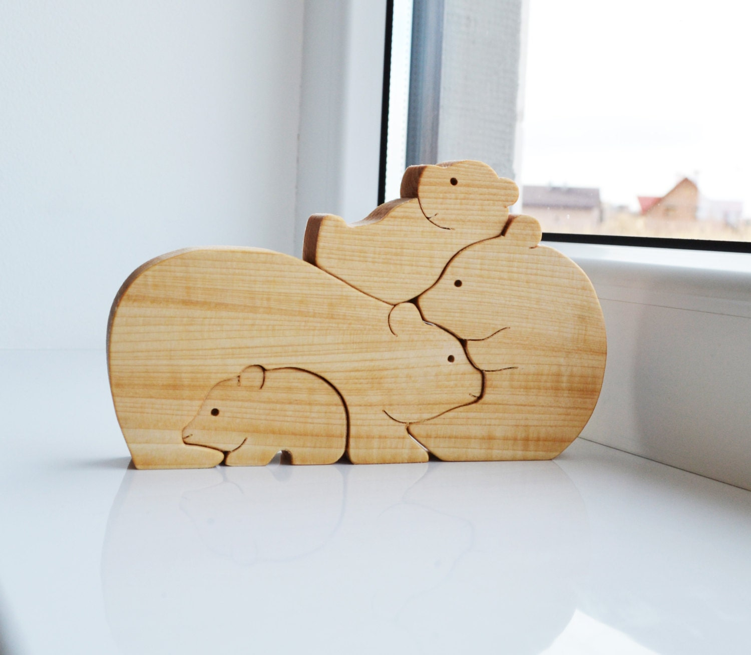 kids gifts wood bear wooden puzzle bear educational toys. Black Bedroom Furniture Sets. Home Design Ideas