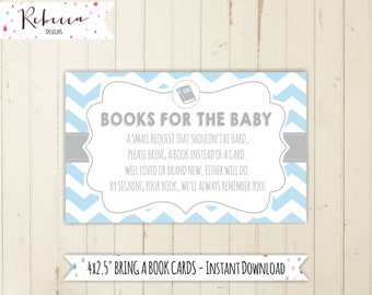 boy book request bring a book card printable blue bring a book instead of a card blue baby shower books for the baby 134 162