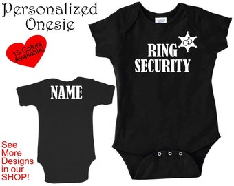 Personalized Onesie, Ring Bearer Onesie, Ring Security, Ring Bearer Gift, Wedding Party Gift