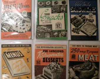 Culinary Arts Vintage Cookbooks Original  !940's Illustrated