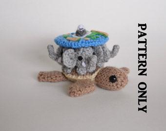 PATTERN: Discworld Pattern.  Terry Pratchett, A'tuin, world turtle