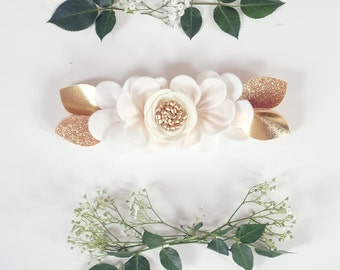 IVORY OMBRE // felt flower pixie crown headband // felt flower accessories for a whimsical childhood