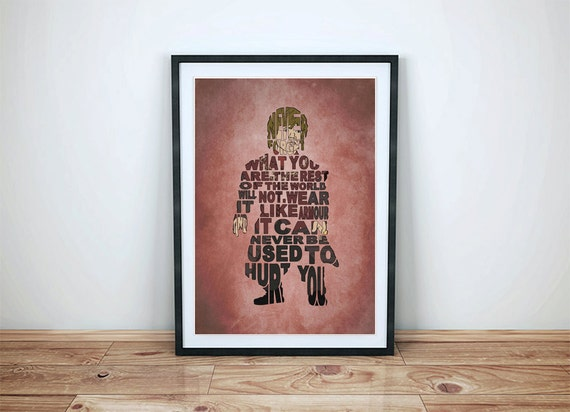 Game of Thrones, Tyrion Lannister Comic Style Quote Poster - Minimalist Typography Poster, Movie Poster, Art Print, Illustration, Wall Art