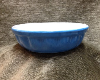 Valentina Blue and White Oven Dish, Baking Dish, Casserole Dish, Valentina Bakeware, Made in Italy, Round Oven to Table Dish