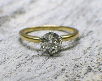 Antique Tiffany and Company Diamond Solitaire Engagement Ring