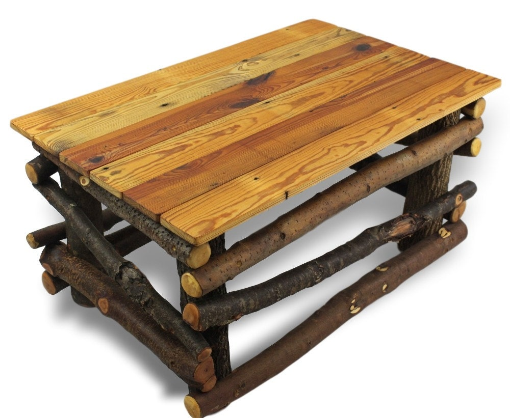 Rustic coffee table reclaimed wood furniture rustic for Reclaimed coffee table