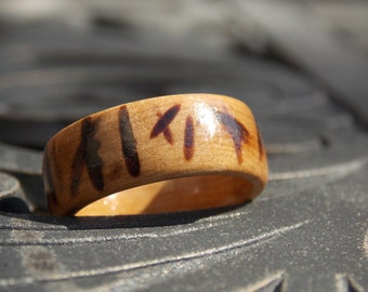 Men Olive wood ring size 9.5