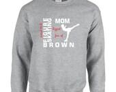 Figure Skating Mom Papa Dad Christmas Sweatshirts, Thanksgiving Women Men Mother Father Birthday Gift Ideas Oversized Custom Purple Blue Red