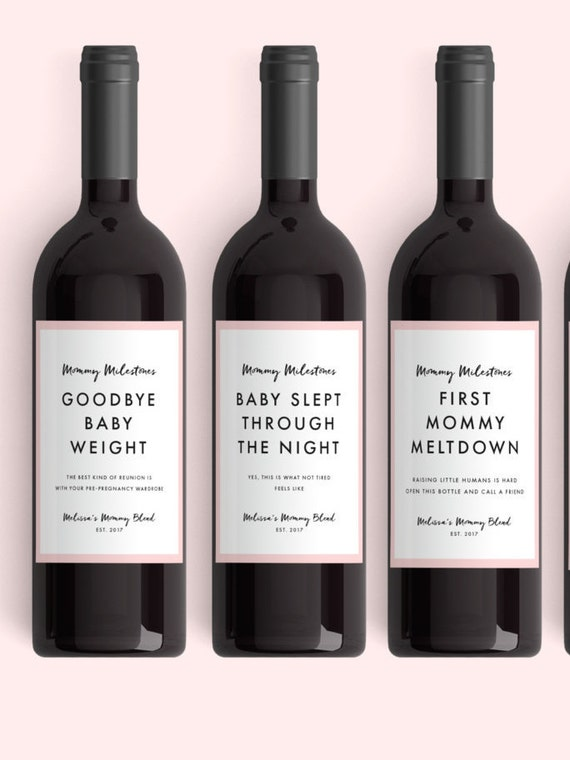 Mommy Milestones Wine Labels