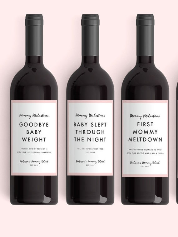 New Mom Gift Wine Labels