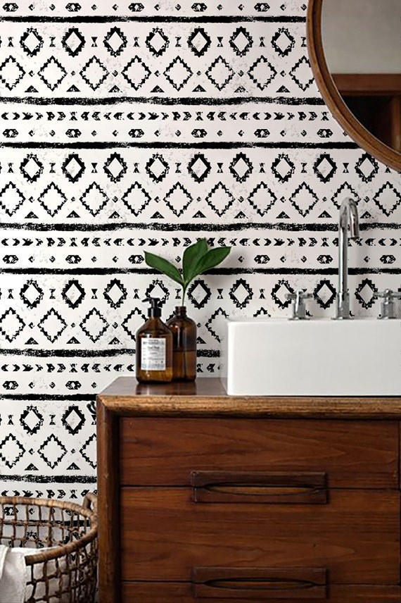 monochrome wallpaper black and white removable wallpaper
