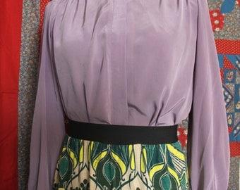 "Lavender ""Lombardi"" blouse women's size 10"