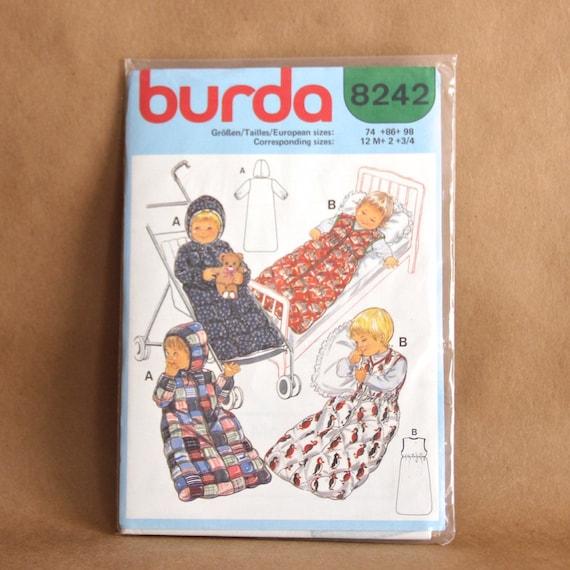 burda patron 8242 turbulette gigoteuse nid dange pour b b. Black Bedroom Furniture Sets. Home Design Ideas