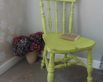 Lord Wilbur Kitchen Chair in fabulous lime hues