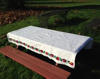 Rustic Romanian tablecloth