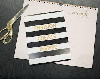 Envision Create Inspire Art Print