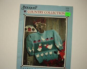 Country  Collection  Kids Sweaters  - Bouquet 1212 Farm Sweaters Animal Sweaters