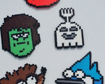 Magnets - Regular Show, Mordecai & Ridgy, Geek Accessories, Geek Magnets, Cartoon Network, Geeky Accessories, Party Favors, Pixel Magnets